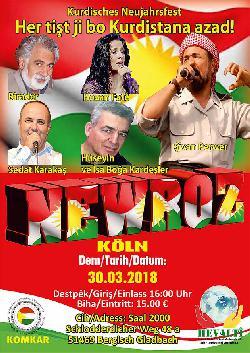 Für ein freies Kurdistan - Newroz-Feier in Köln [Video]
