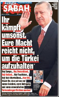 Hate Fake News in Erdogan-Zeitung Sabah