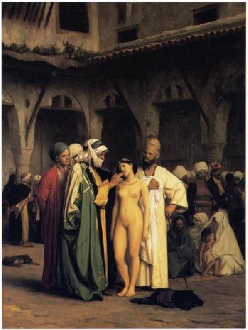 Gemälde muslimischer Männer, die weiße Frauen versklaven, löst Empörung aus