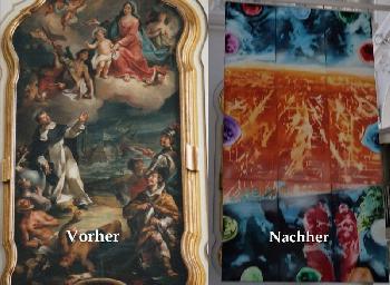 Kirche versteckt Gemälde von der Seeschlacht bei Lepanto
