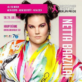 Eurovision-Siegerin Netta kommt zum CSD Berlin