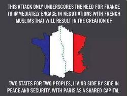 Wenn Frankreich Israel wäre, dann würde die Welt wie folgt reagieren: