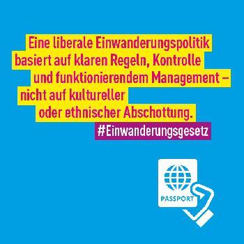 FDP zur Migrationspolitik: Weltoffen, aber kontrolliert