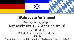 Kundgebung: Wehret den Anfängen - Gegen Antisemitismus und Antizionismus