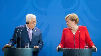 Pressestatement von Merkel und ihrem Gast Abbas