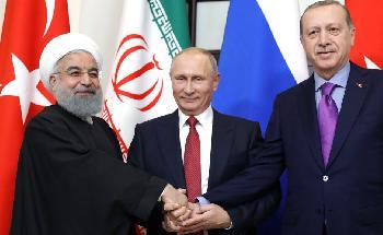 Ein Bündnis zwischen Russland, Iran und der Türkei ist im Entstehen