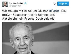 Beileidsbekundungen zum Tod von Shimon Peres sel. A. aus Deutschland