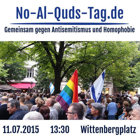 Demonstration Gegen den Al-Quds-Marsch in Berlin am 11.7.2015, 13:30 Wittenbergplatz